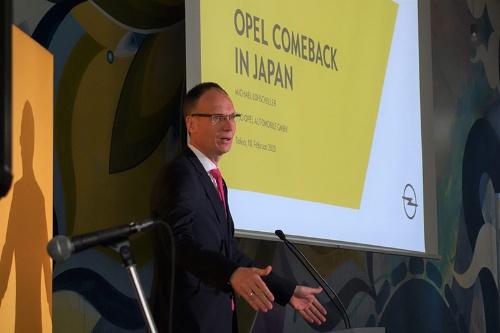 日本市場への再参入を発表するミヒャエル・ローシェラーCEO
