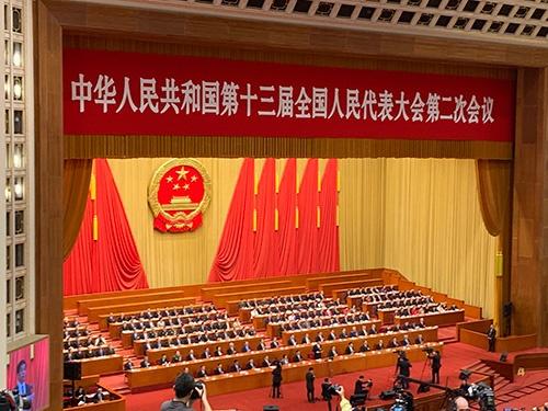 全人代は北京の人民大会堂で開かれた