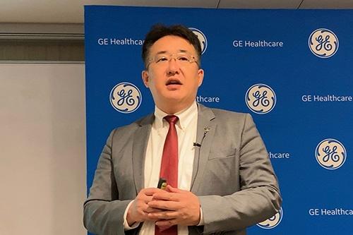 GEヘルスケア・ジャパンの多田荘一郎社長は「医療機関の経営効率化の手助けをしたい」と話した