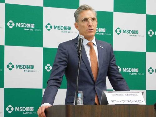 MSDのヤニー・ウェストハイゼン社長は「キイトルーダは当社の成長を大きく支えている」と期待を寄せる。