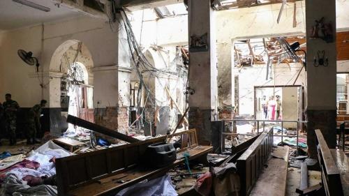 4月21日、スリランカのキリスト教会などで相次ぎ爆発が起きた。犠牲者が増えて続けている(写真=AFP/アフロ)