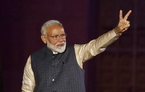 総選挙で大勝を収め、2期目の続投を確実なものとしたインドのモディ首相(写真:ロイター/アフロ)