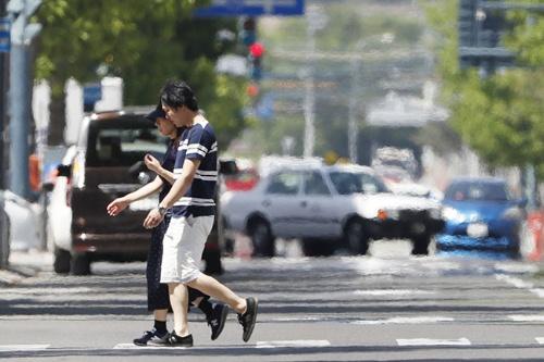 北海道帯広市では26日に最高気温38.8度を記録した。(写真:共同通信)