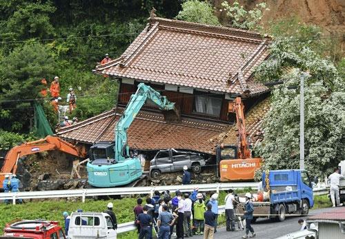 今回の豪雨は熊本県を中心としながら列島各地に深い爪痕を残した(広島県東広島市)