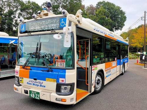 相鉄バスは大型路線バスを改造した自動運転バスを使って営業運行を実施
