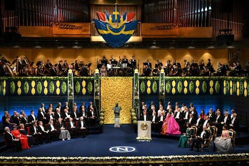 2018年のノーベル賞授賞式(写真:AFP/アフロ)