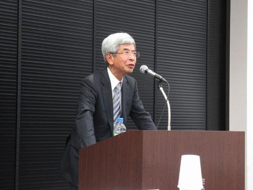 登壇した池松秀之医師は感染症の専門家