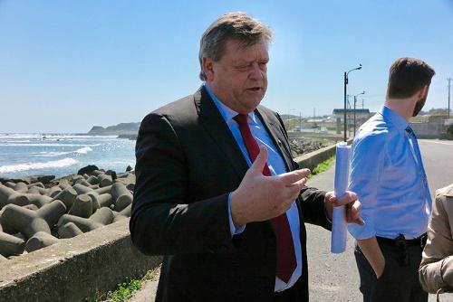 3月中旬に来日したハーラル・トム・ネースビーク漁業大臣。日本の政府関係者と捕鯨問題やEPAなどについて協議した
