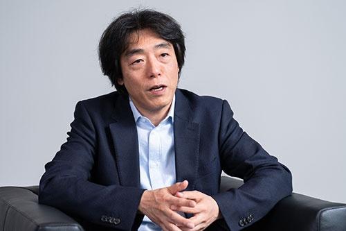 ソニーでAIロボティクスビジネスを担当する川西泉執行役員(写真:吉成大輔)