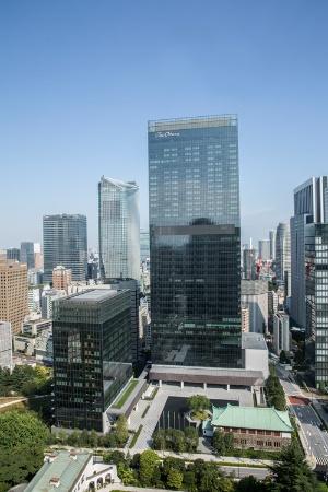 ジ・オークラ・トーキョーは41階建てと17階建ての2棟のビルからなる。41階建てのビルにはオフィスも入る