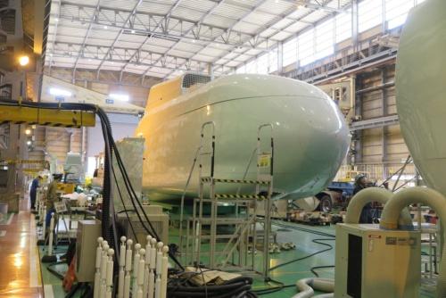 日立の風力発電機は価格が高いとされていた(茨城県日立市の埠頭工場内)