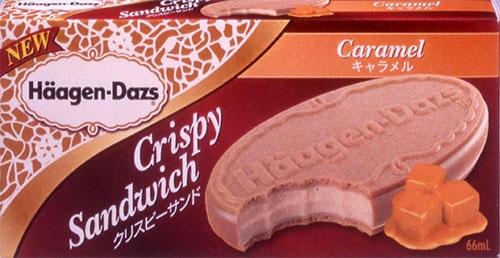 日本発のクリスピーサンドは世界的なヒットになった(発売当時のパッケージ)