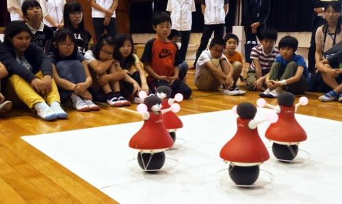 長法寺小学校(京都府長岡京市)での出前授業での様子