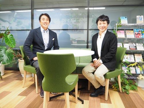 右:上野勇さん(セプテーニ・ホールディングス代表取締役グループ上席執行役員)、左:古野俊幸・ヒューマンロジック研究所 代表取締役