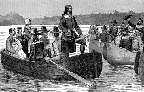 1644年に植民地の特許状を英国から持ち帰ったロジャー・ウィリアムズ
