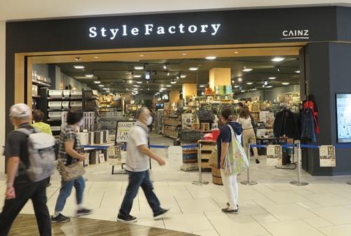 愛知県に次ぎ2カ所目となる新業態。通常のカインズの店舗とは雰囲気が異なる