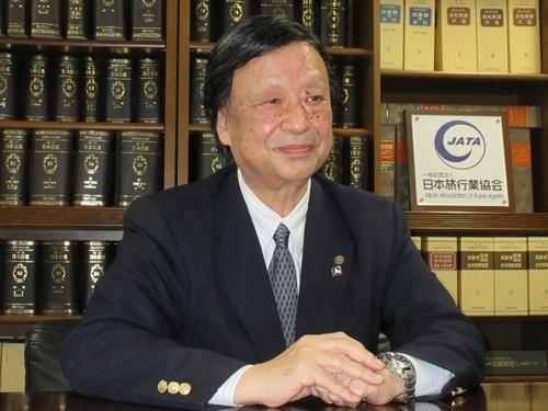 日本旅行業協会(JATA)の坂巻伸昭会長。東武トップツアーズの社長を務める