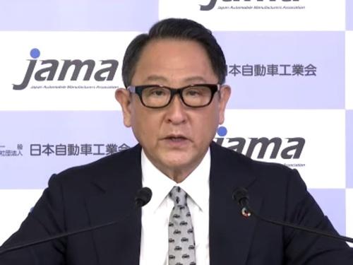 日本自動車工業会の豊田章男会長(トヨタ自動車社長)はオンライン記者会見で、国の再エネ導入の遅れに危機感を示した