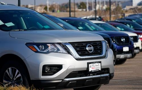 日産自動車の21年3月期の北米での新車販売は21年2月時点の見通しを2.8%上回る121万台だった(写真:AP/アフロ)