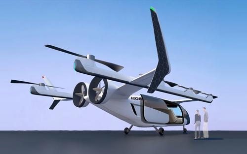 ホンダが開発を進める空飛ぶクルマ「Honda eVTOL」。ガスタービンエンジンとバッテリーのハイブリッドで、25年以降の認定取得を目指す