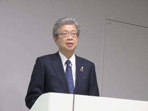 第⼀三共の眞鍋淳社長(2019年12月撮影)