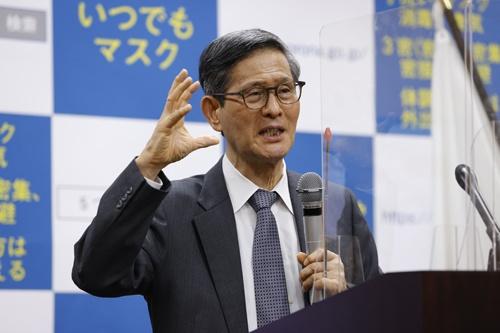 東京の医療逼迫に警鐘を鳴らしている(写真は昨年12月11日、共同通信)