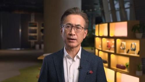 経営方針説明会に登壇したソニーグループの吉田憲一郎会長兼社長CEO(オンライン会見の画面をキャプチャー)