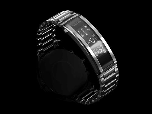 ソニーが発表した新型スマートウオッチ「wena 3」。腕時計のバックル部分にディスプレーや通信機能などを備える
