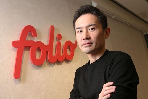 SBIホールディングスに買収されることが決まったフォリオホールディングスの甲斐真一郎CEO(写真:陶山勉)