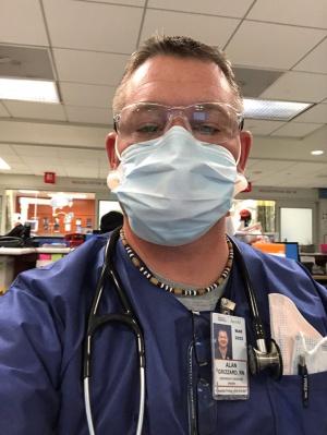 ノースカロライナ州からニューヨークの医療現場を支援するために駆けつけた看護師のアラン・グリザードさん