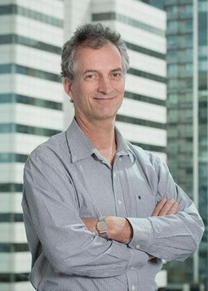 ワシントン大学保健指標評価研究所(IHME)のテオ・ヴォス教授。新型コロナ関連の未来予測チームの主要メンバーだ