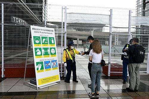 東京五輪・パラリンピックの報道陣向けに設置されたプレスセンター(写真=新華社/アフロ)