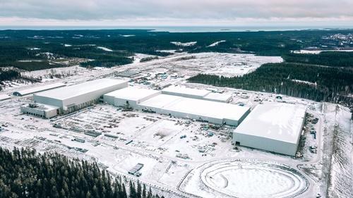 ノースボルトはスウェーデン北部のシェレフテオで巨大電池工場を建設している