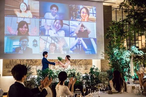 リアルとオンラインで参加する「ハイブリッド結婚式」
