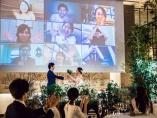 リアルと中継の合わせ技、コロナで広まるハイブリッド結婚式