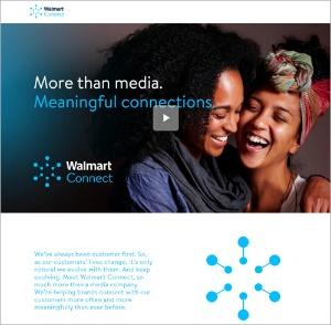ウォルマートのデジタル広告組織「Walmart Connect」のサイト(写真:ウォルマート)