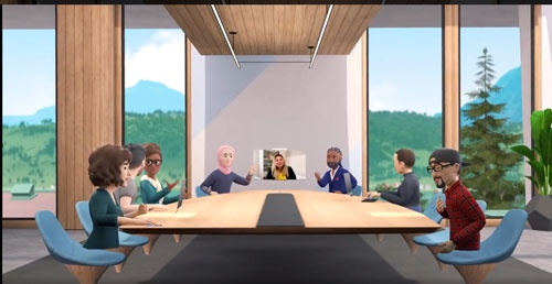 フェイスブックのメタバース「Horizon Workrooms(ホライゾン・ワークルーム)」