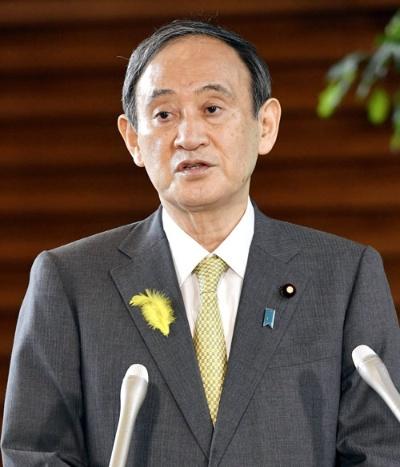 菅義偉首相は5日、都議選の結果について「自公で過半数を実現できなかったことは謙虚に受け止めさせていただきたい」と述べた(写真:共同通信)
