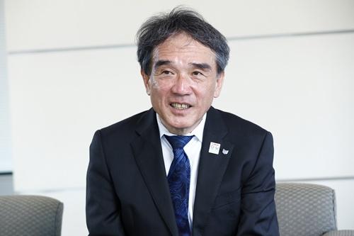 キヤノンで知的財産法務本部長を務める長澤健一・常務執行役員(写真:竹井俊晴、以下同じ)
