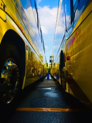 はとバスは昨秋、「バスでつくる巨大迷路体験」などユニークな企画で利用者をつなぎとめた