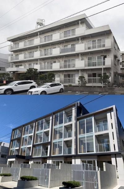 三井不動産が東京都練馬区で手掛けたリファイニング建築の事例。1976年に竣工した集合住宅を新築同等の性能を持つ物件に再生した
