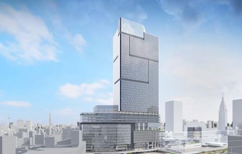 小田急百貨店などを建て替え、地上48階、地下5階の高層ビル建設が決まった新宿駅西口(写真提供:小田急電鉄・東京地下鉄)
