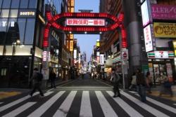 4月7日の緊急事態宣言で人出が減った新宿・歌舞伎町