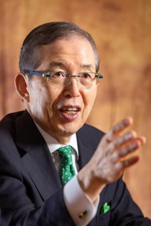 日本電産の永守重信会長CEO(写真:菅野 勝男)