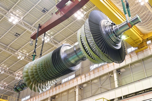 三菱重工業は水素発電用ガスタービンの商用化を目指す。写真は高効率のJAC形ガスタービン(写真:三菱パワー)