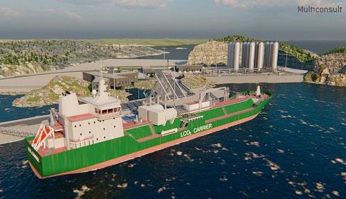 ノルウェーで開発中のノーザンライツ事業で使われる船舶のイメージ(写真提供:ノーザンライツ)