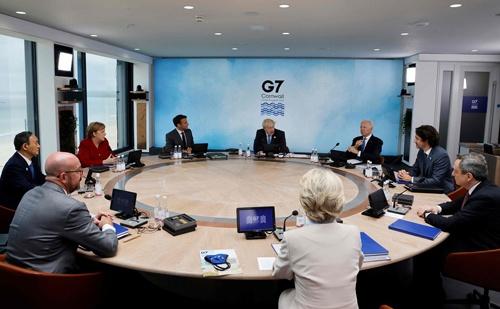 6月に英国で開催された主要7カ国首脳会議(G7サミット)で、「2030年自然協約」が採択された(写真:AP/アフロ)