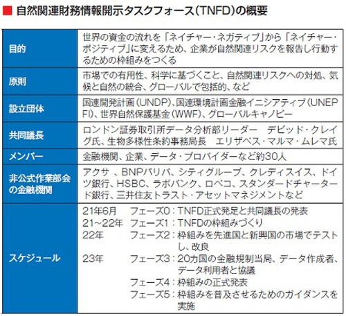 出所:TNFD の情報を基に日経ESG作成