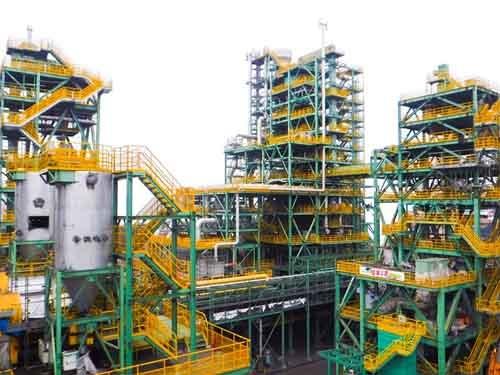 JFEスチール西日本製鉄所福山地区で研究を進めているフェロコークス製造設備(写真:JFEホールディングス)
