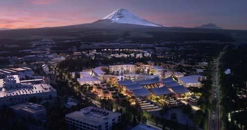2021年から静岡県裾野市で建設に着手する予定の未来の都市「Woven City(ウーブン・シティ)」(写真提供:トヨタ自動車)
